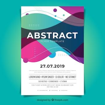 Abstract flyer-sjabloon met platte ontwerp