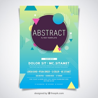 Abstract flyer-sjabloon met platte ontwerp