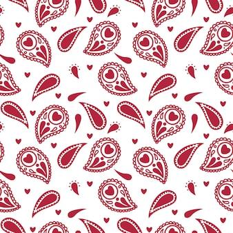 Abstract folk naadloos patroon met decoratieve elementen