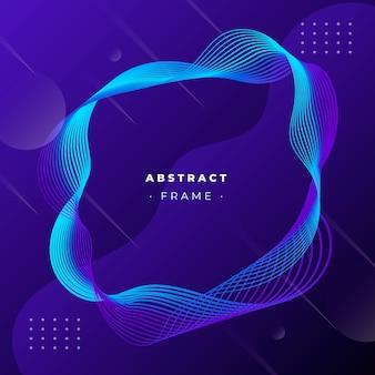 Abstract frame met dynamische lijnen