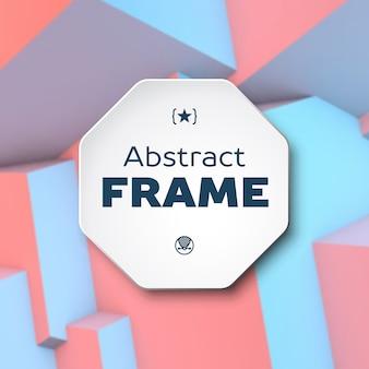 Abstract frame met rozenkwarts en sereniteitsblokjes