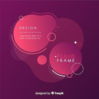 Abstract frame met vloeiende stijl
