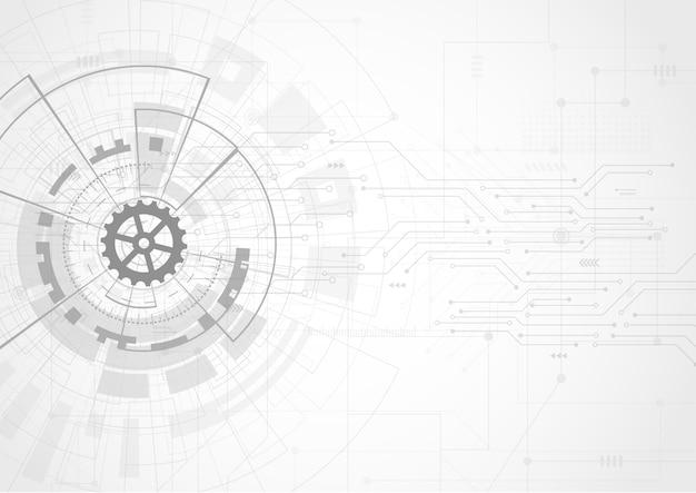 Abstract futuristisch digitaal technologieconcept