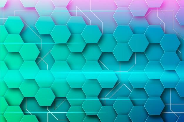 Abstract futuristisch ontwerp voor behang
