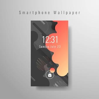 Abstract futuristisch smartphonebehang