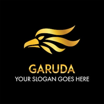 Abstract garuda hoofd logo concept