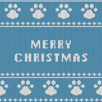 Abstract gebreid naadloos patroon. brei textuur voor het nieuwe jaar, vrolijk kerstcadeaupapier.