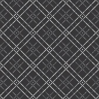 Abstract gebreid patroon. vector naadloze achtergrond met grijstinten kleuren. gebreide wollen trui design.