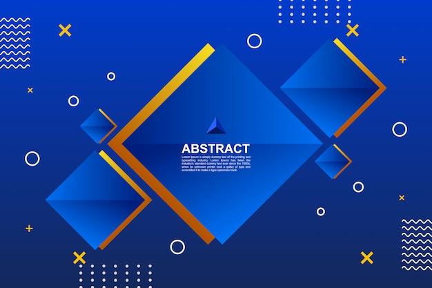 Abstract gekleurde blauwe geometrische achtergrond