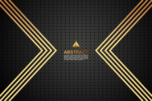 Abstract gekleurde donkere gouden geometrische achtergrond