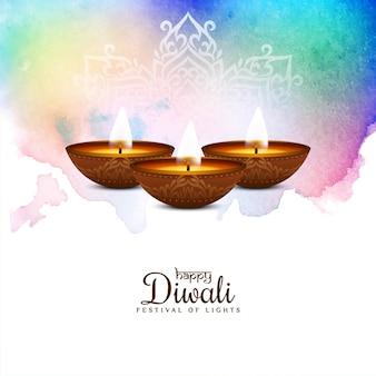 Abstract gelukkig kleurrijk diwali-festival