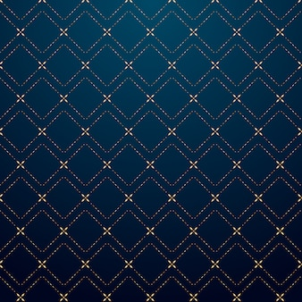 Abstract geometrisch de lijnpatroon van het vierkanten gouden streepje