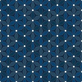 Abstract geometrisch de textuur naadloos patroon van de veelhoek blauw kleur