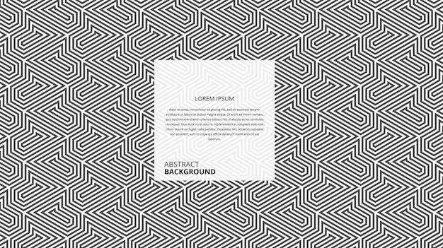 Abstract geometrisch decoratief vierkant lijnenpatroon