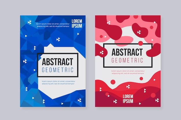 Abstract geometrisch dekking collectie thema
