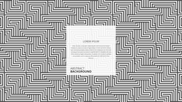 Abstract geometrisch diagonaal patroon met vierkante vormlijnen