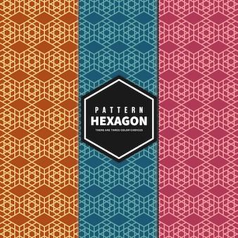 Abstract geometrisch grafisch naadloos hexagon patroon