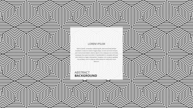 Abstract geometrisch hexagonaal vierkant lijnenpatroon
