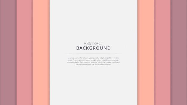 Abstract geometrisch mooi papercutontwerp als achtergrond