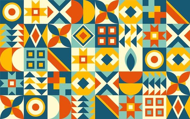 Abstract geometrisch muurschilderingbehang