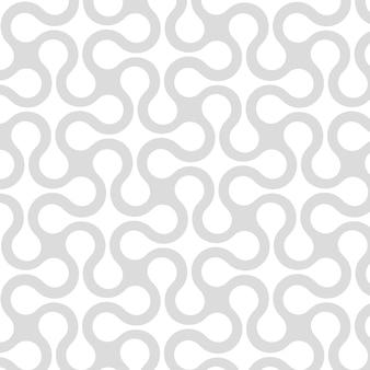 Abstract geometrisch naadloos patroon met gebogen strepen, lijnen