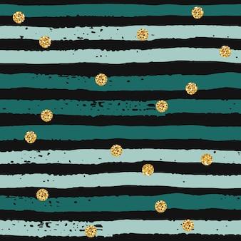 Abstract geometrisch naadloos patroon met hand getrokken texturen.