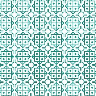 Abstract geometrisch naadloos patroon met vierkanten en cirkels.