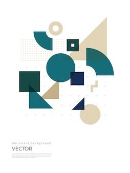 Abstract geometrisch ontwerp als achtergrond