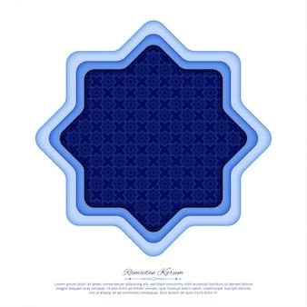 Abstract geometrisch ornament, oosterse stijl, ramadan kareem