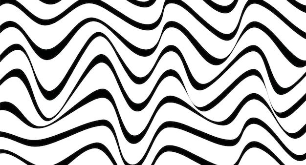 Abstract geometrisch patroon met golvende lijnen. naadloze vectorachtergrond.