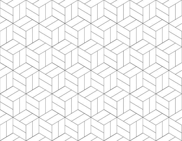 Abstract geometrisch patroon met lijnen