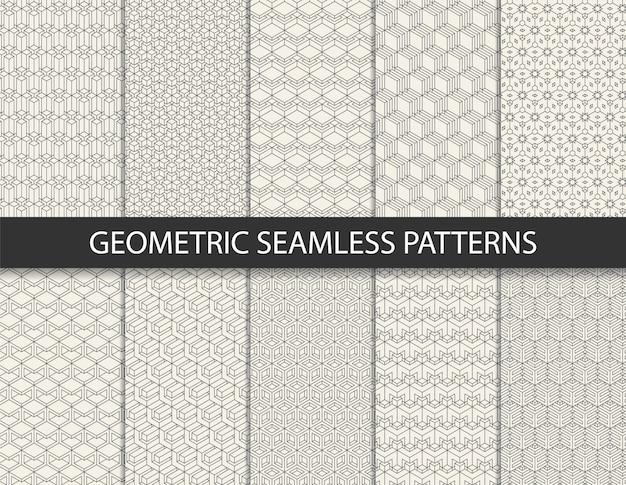 Abstract geometrisch patroon. naadloze achtergrond. Premium Vector