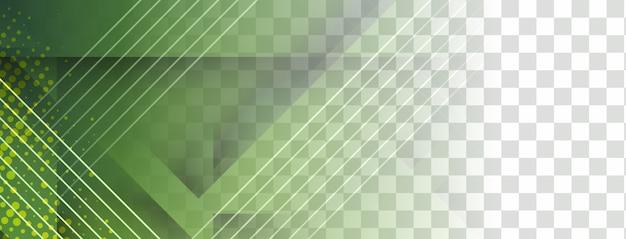 Abstract geometrisch transparant bannerontwerp