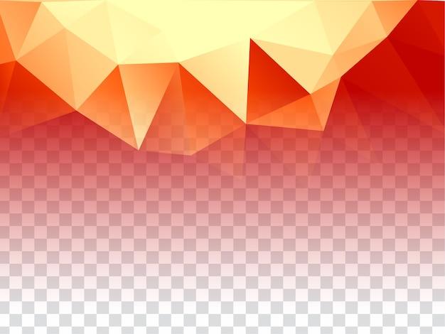 Abstract geometrisch transparant ontwerp