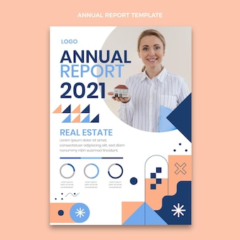 Abstract geometrisch vastgoed jaarverslag