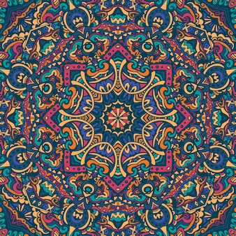 Abstract geometrisch vector betegeld boho etnisch naadloos patroon sier