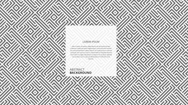Abstract geometrisch vierkant lijnenpatroon