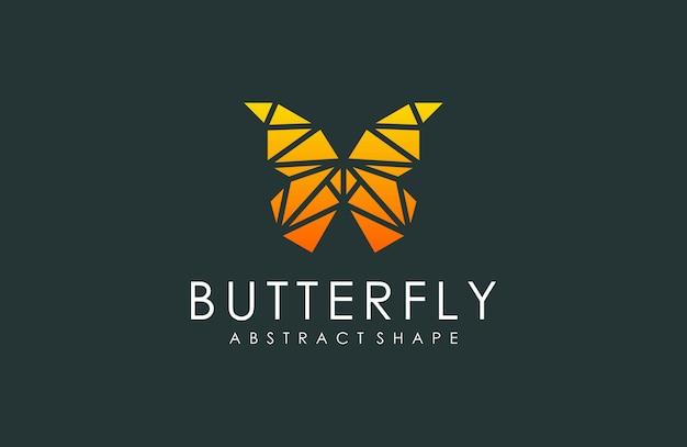 Abstract geometrisch vlinderembleem, dierlijke illustratie van moderne geometrisch