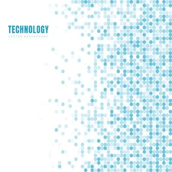 Abstract geometrisch wit en blauw cirkelspatroon