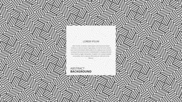 Abstract geometrisch z-vorm vierkant lijnenpatroon