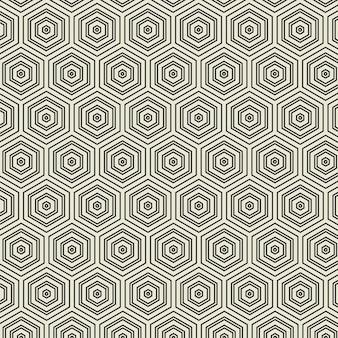Abstract geometrisch zeshoekpatroon. patroon achtergrond concept