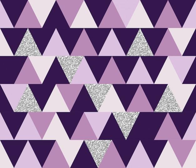 Abstract geometrische naadloze patroon met glitter-elementen. behang