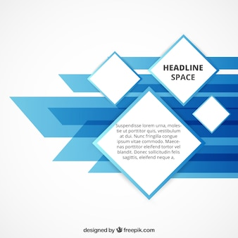 Abstract geometrische template