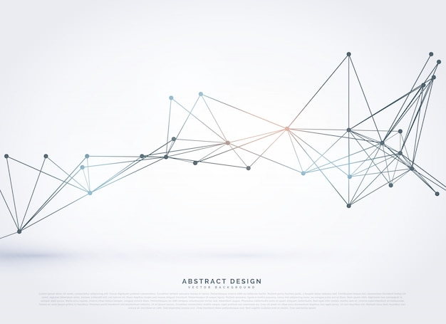 Abstract geometrische veelhoekige technologie stijl achtergrond