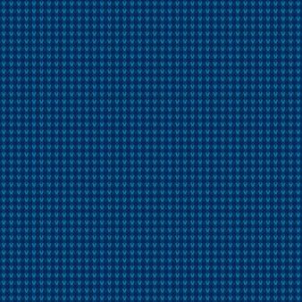 Abstract geruit breipatroon in tinten van blauwe kleuren. naadloze vector achtergrond.