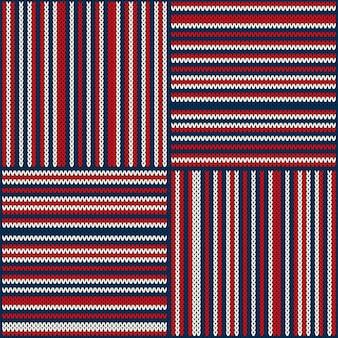 Abstract geruit gebreide trui patroon