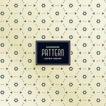 Abstract gestippeld geometrisch zeshoekig naadloos patroonontwerp