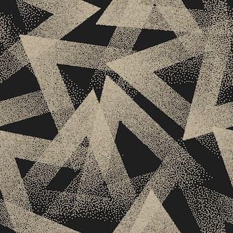 Abstract gestippeld raar naadloos patroon