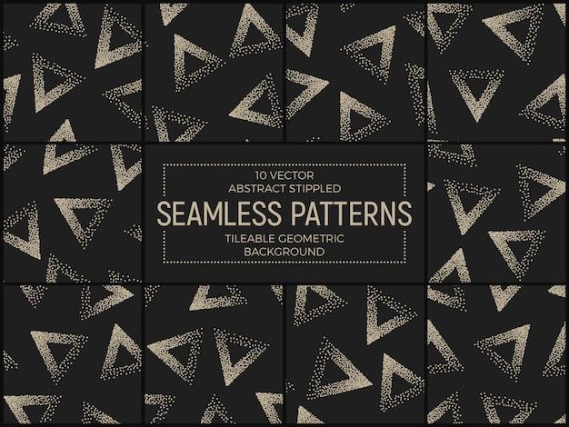 Abstract gestippelde naadloze patronen