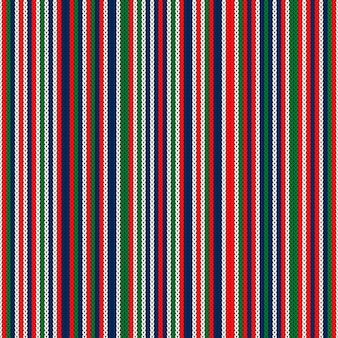 Abstract gestreept gebreid patroon vector naadloos gebreide textuur imitatie